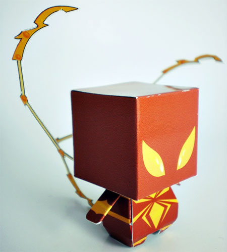Iron Spider Armor Paper Toy