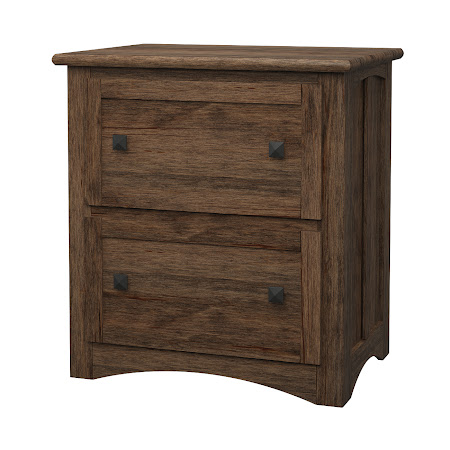 Haiku Lateral File Cabinet in Weathered Maple