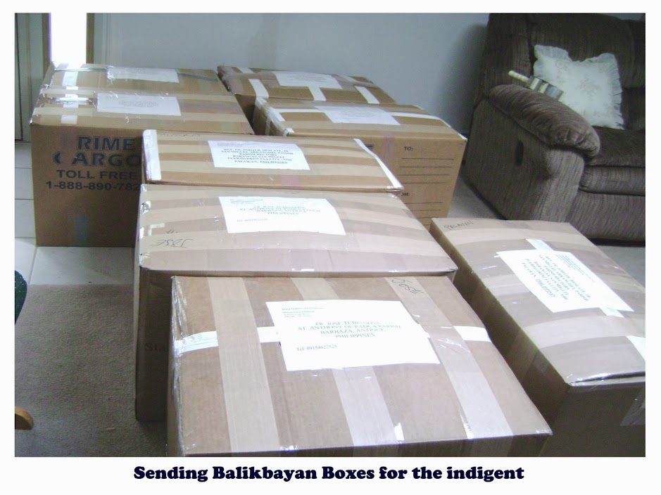 Shipping supplies via balikbayan boxes | Mary Queen Of All