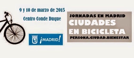 Jornadas 'Ciudades en Bicicleta' 9 y 10 de marzo en Conde Duque