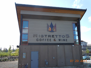 Ristrettos - large sign back of building