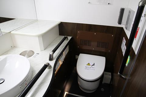 名鉄バス「名古屋新宿線」Sクラスシート車 2253 後部ワイドトイレ その1