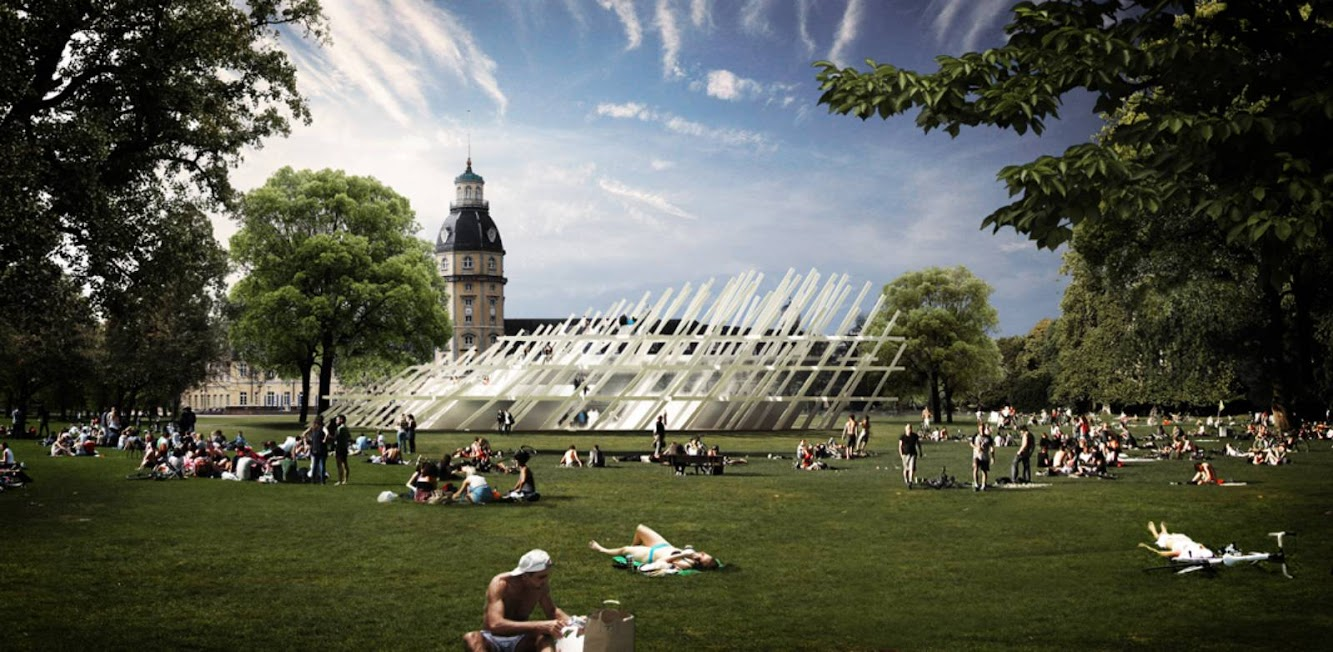 Karlsruhe, Germania: Pavilion For the City Jubilee by J. Mayer H. Architekten