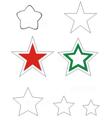 Moldes y figuras de sucha foami moldes de estrellas - Plantilla estrella navidad ...