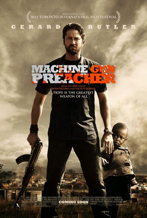 Poster Of Machine Gun Preacher (2011) Full Movie Hindi Dubbed Free Download Watch Online At Alldownloads4u.Com