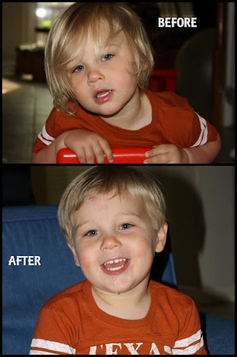 "My son went from long soft locks, to coarse ""big boy"" hair."