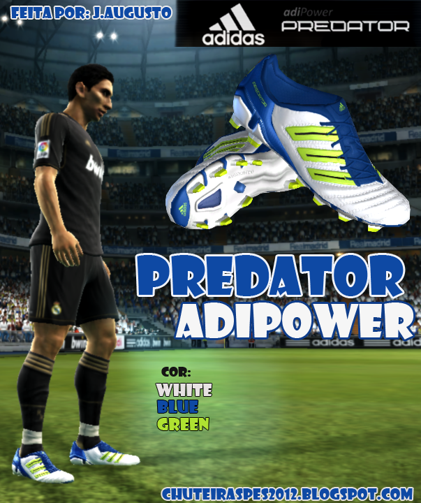 PES 2012 Predator adiPower   White, Blue, Green