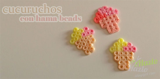 Cucuruchos hama beads.