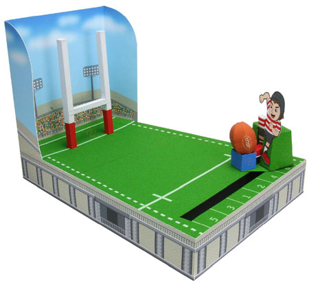 Rugby Goal Kick Game Papercraft
