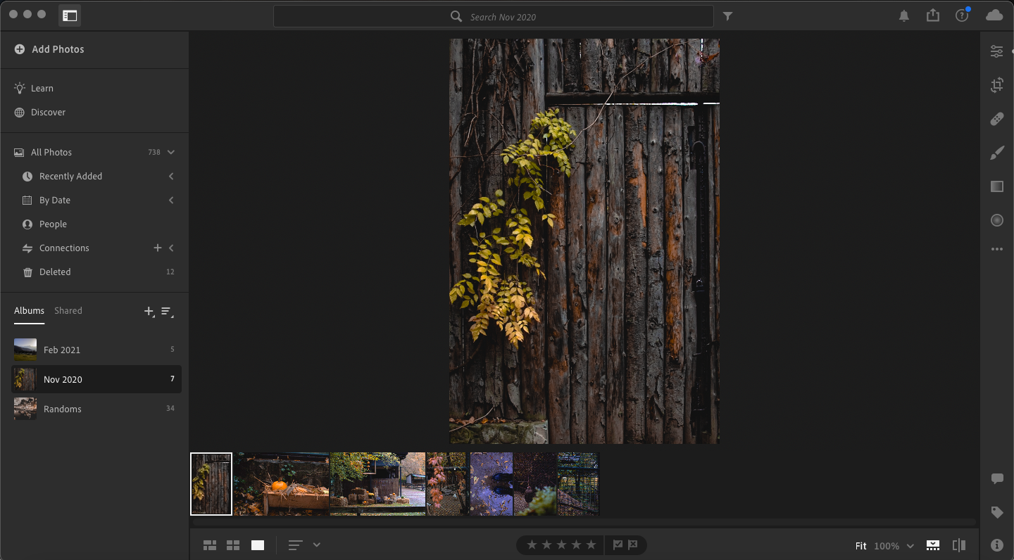 screenshot of lightroom UI showing how to batch edit in lightroom