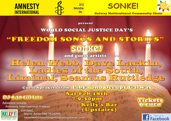Advertisement for freedom songs concert