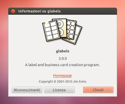 Glabels 3.0.0 su Ubuntu