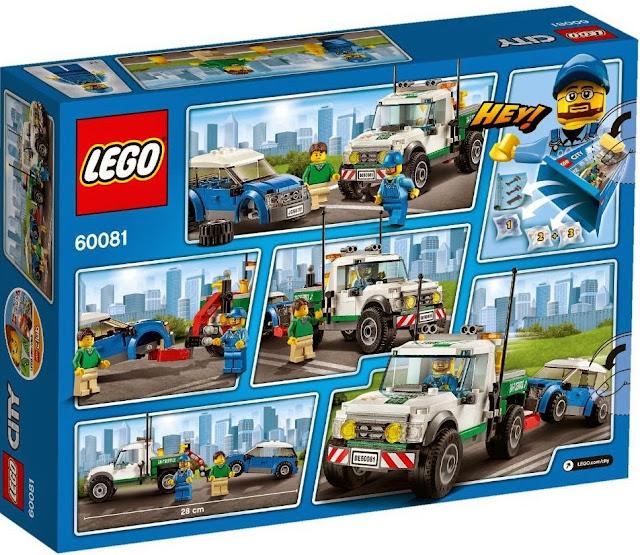 Lego City 60081 Xe bán tải cứu hộ Pickup Tow Truck dành cho trẻ từ 5 - 12 tuổi
