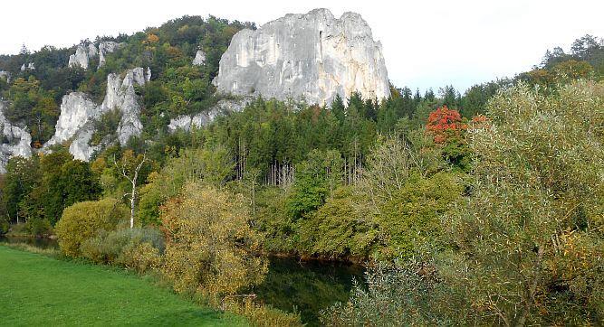 Jurafelsen im Oberen Donautal bei Gutenstein