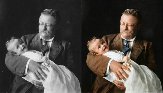 Теодор Рузвелт - Най-известните исторически черно-бели фотографии в цвят