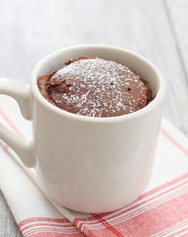 Skinny Chocolate Ice Cream Mug Cake - Kirbie's Cravings