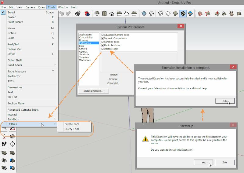การติดตั้ง Extensions ให้กับ SketchUp 2013 และวิธีการแก้ปัญหาสำหรับ Extensions ที่ไม่ยอมทำงาน Su2013re28