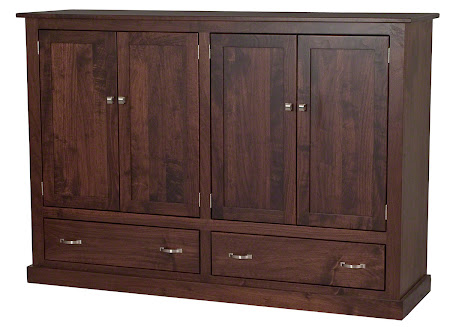 "Matching Furniture Piece: 70"" x 50"" x 20"" Custom Dakota Armoire in Smoky Walnut"
