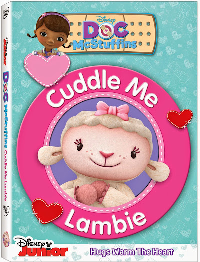 Kick off Valentine's Day with your kiddos by watching the new Doc McStuffins Cuddle Me Lambie DVD. Includes free Lambie hair clips, too!