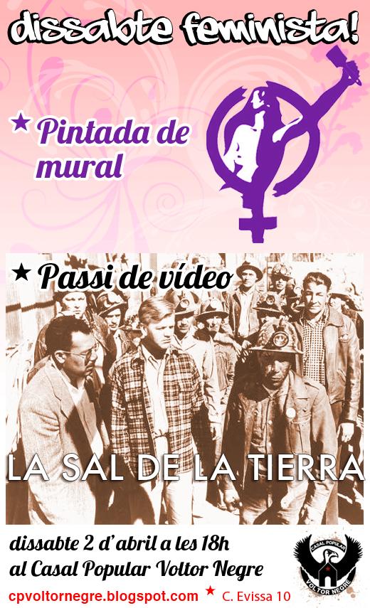 Dissabte feminista [Pintada de mural i passi de vídeo] (02-04-11)