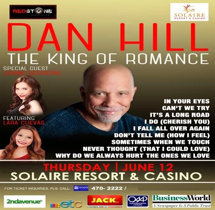 Dan Hill Tour 2014 Live in Manila