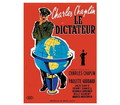 Retro filmaffiche van The great dictator (Charlie Chaplin)