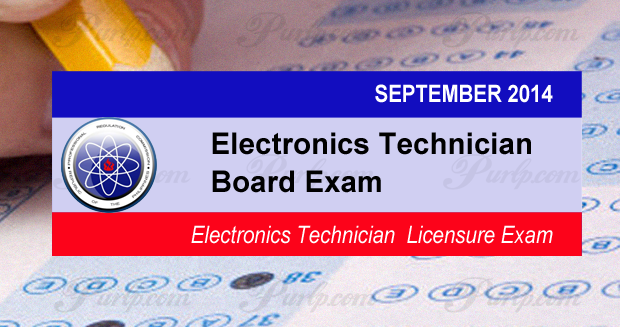 Sept 2014 Electronics Technician Licensure Exam Results