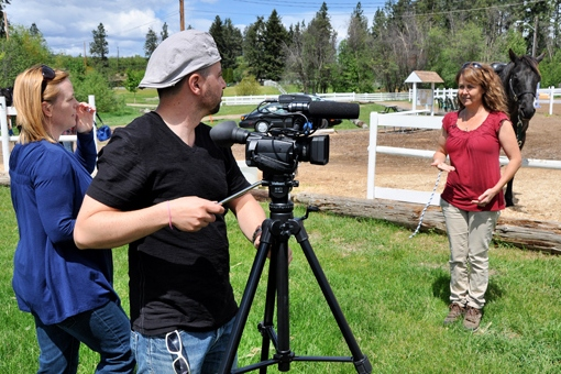 Valerie Directs while Tim films for Tuja Wellness