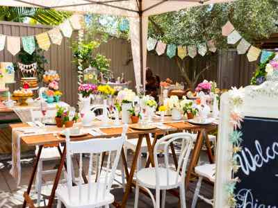 Como hacer 1 decoracion economica para un baby shower for Adornos jardin baratos