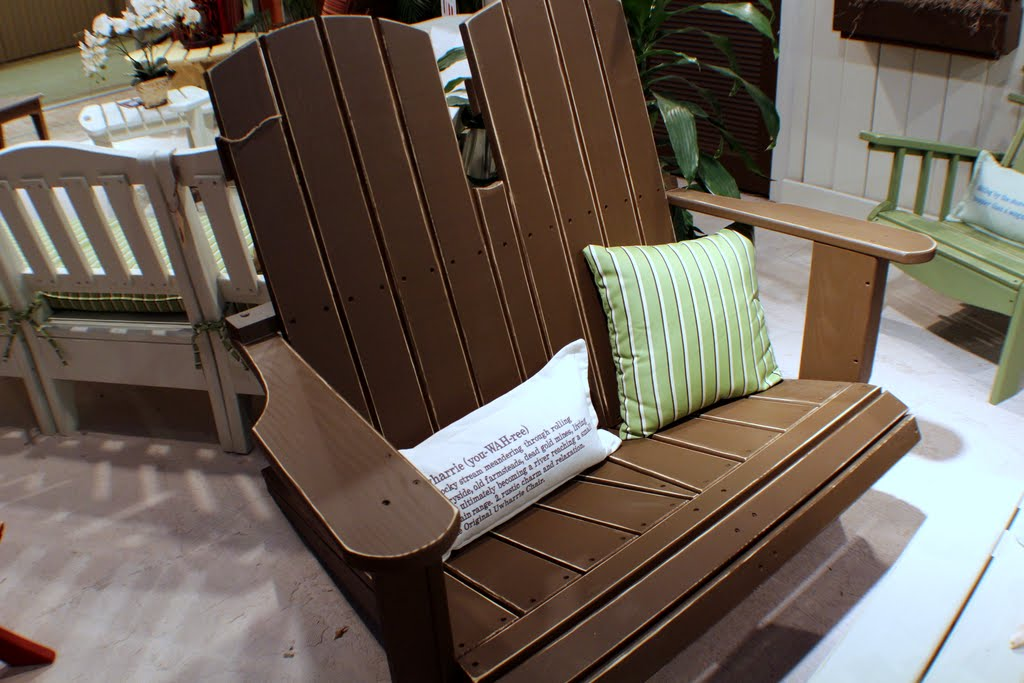 V052 Veranda Adirondack Swing Settee Chair Uwharrie Patio