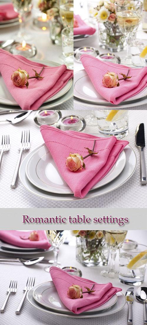 Stock Photo: Romantic table settings