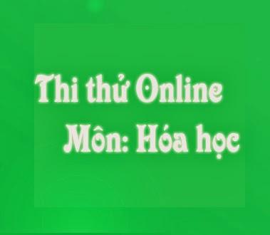 thi thu online mon hoa