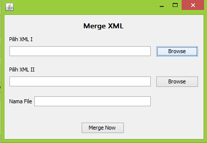 Menggabungkan File XML dengan menggunakan java dan Netbeans