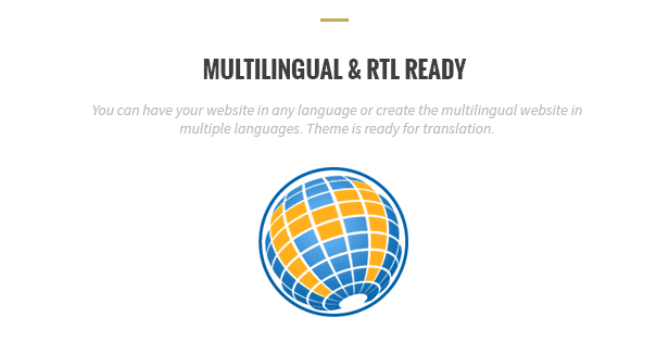 Multilingual and RTL ready
