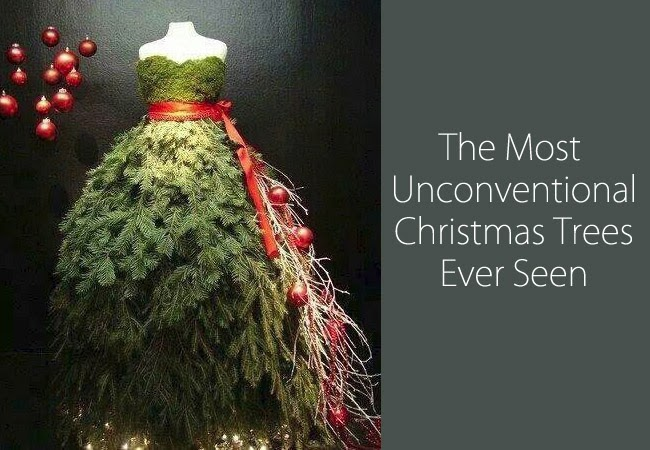 The most unconventional Christmas trees ever seen