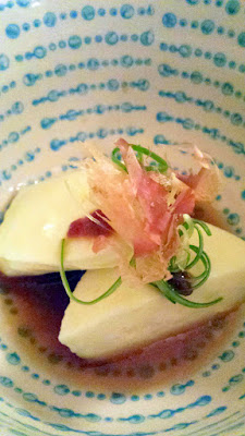 Nodoguro Twin Peaks Dinner theme, Smoked Cheese Pig with fresh mozzarella cheese in dashi