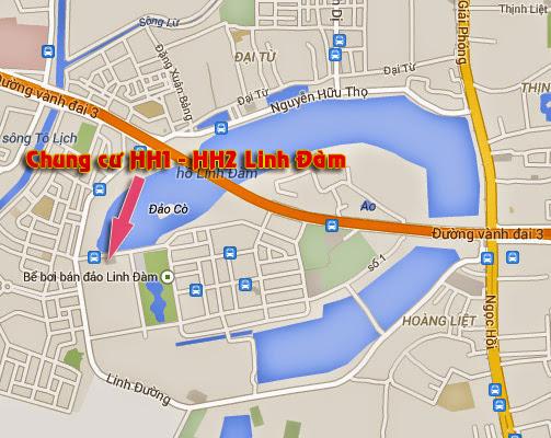 Vị trí dự án HH1 HH2 Linh Đàm
