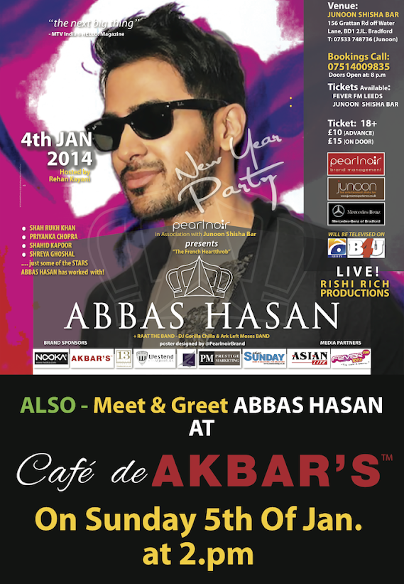 Abbas Hasan at Cafe de Akbar on Janauray 5th 2014 Meet and Greet
