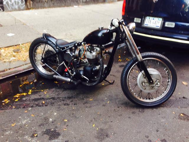 Tigho NYDucati Custom Triumph Chopper off Bowery