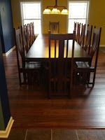 110″ x 48″ x 30″ Cordoba Dining Table and Shenzen Dining Chairs in Blackened Oak
