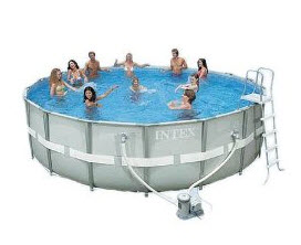 discount Intex 54471EB Ultra Frame Pool Set