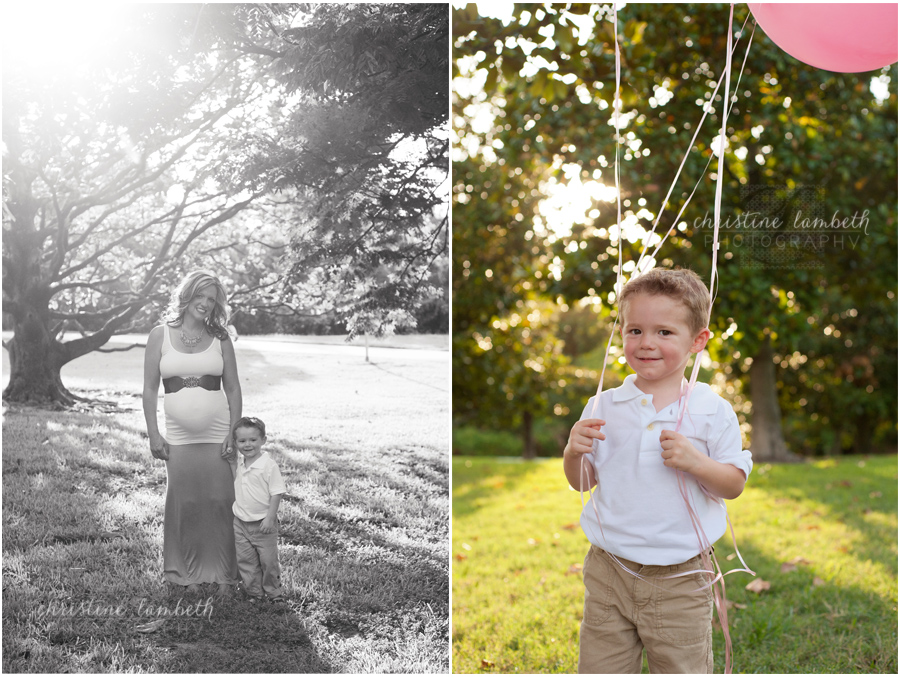 Maternity photos - mom with son