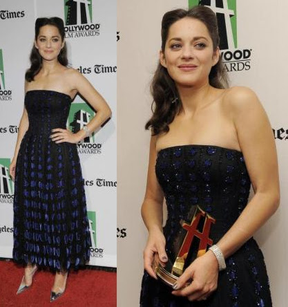 Marion Cotillard on the red carpet of Annual Hollywood Film Awards Gala 2012