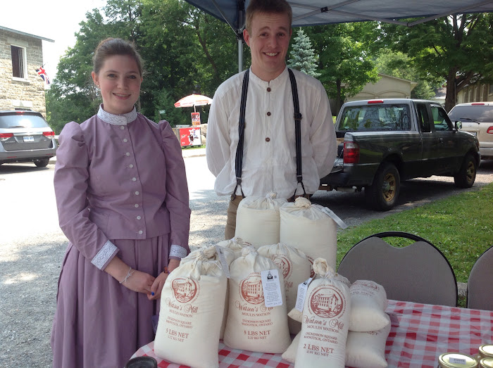 Teens in costume at the Manotick Farmers Market
