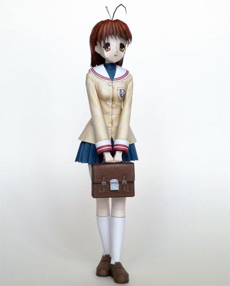Clannad Papercraft Nagisa Furukawa