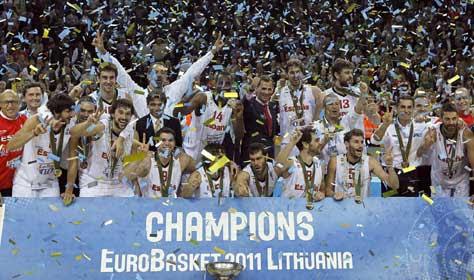 Selección española gana el eurobasker 2011