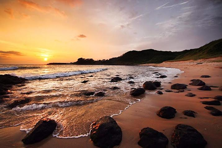 長瀬浜(ながせはま)の朝日