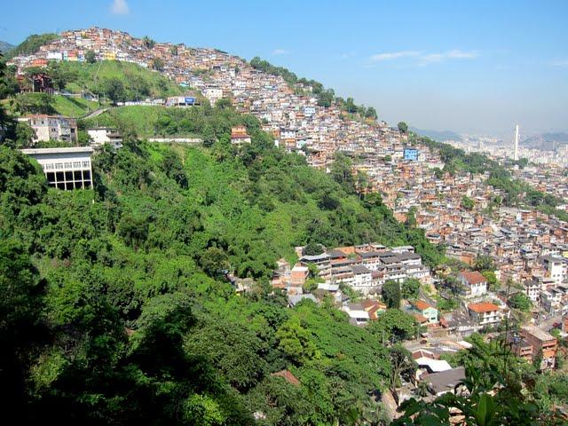 A favela in Rio de Janeiro Brazil