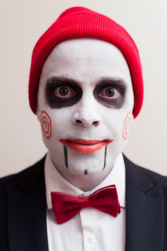 Billy the Puppet, from Saw, fancy dress costume