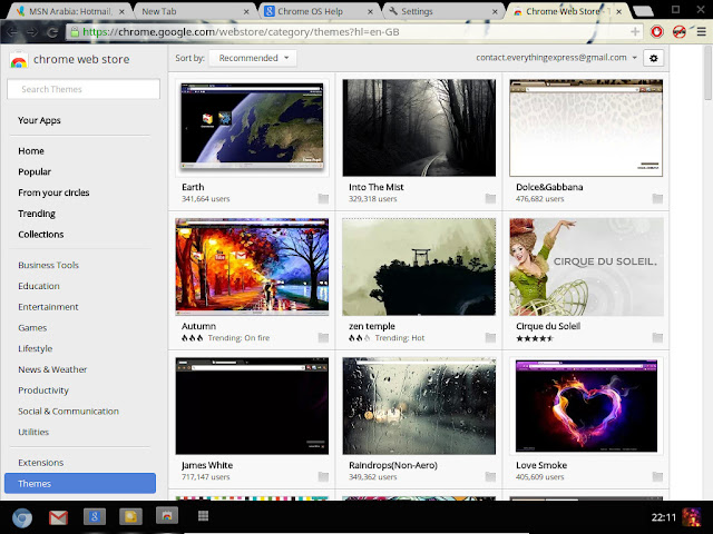 Chrome Store Themes